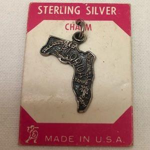 FLORIDA Vintage Sterling Silver Charm Made USA NIP